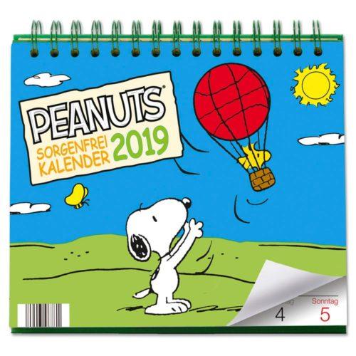 Tischkalender 2019 - Sorgenfrei durchs Jahr (Peanuts)