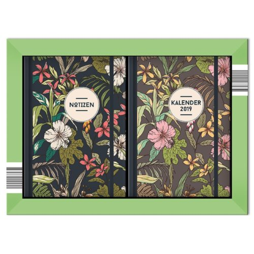 Taschenkalender Set 2019 - Floral