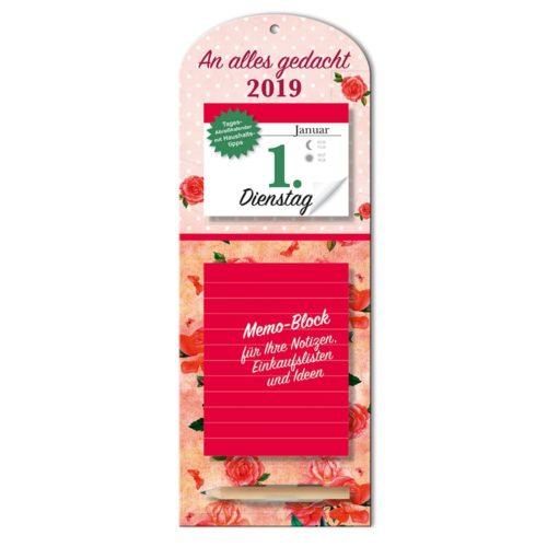 Tageskalender mit Memoboard 2019 - Rosen