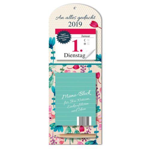 Tageskalender mit Memoboard 2019 - Streublumen