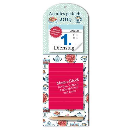 Tageskalender mit Memoboard 2019 - Teekanne
