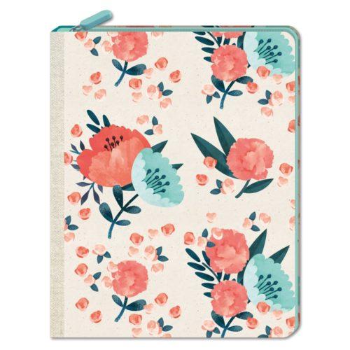 Notizbuch mit Reißverschluss - Blütentraum