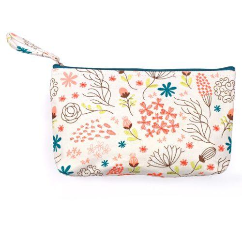 Bestickte Tasche - Blumen