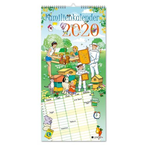 Streifenkalender 2020 - Familien Cartoon
