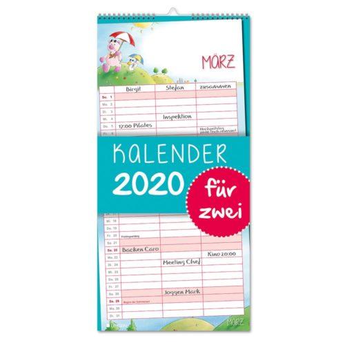 Streifenkalender 2020 - Paarkalender