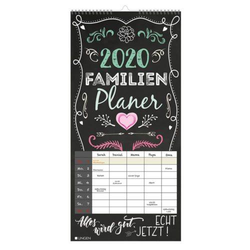 Streifenkalender 2020 - Familienplaner