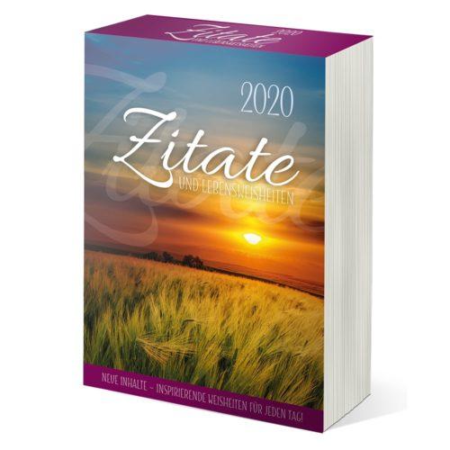 Abreißkalender 2020 - Zitate und Lebensweisheiten