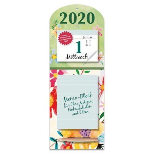 Tagesabreißkalender mit Memoboard 2020 - Blumen