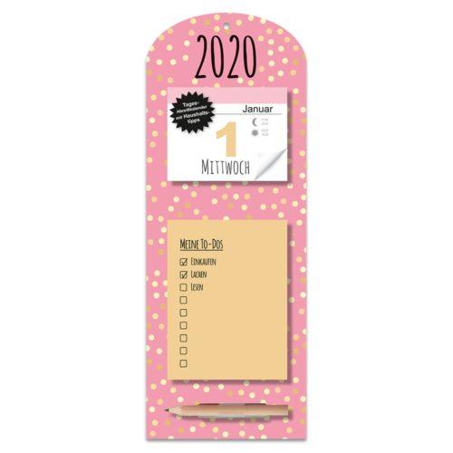 Tagesabreißkalender mit Memoboard 2020 - Trend