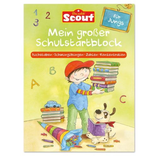 Scout - Mein großer Schulstartblock für Jungs