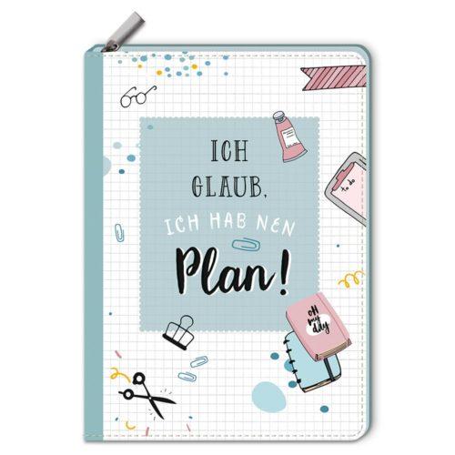 Notizbuch mit Reißverschluss – Ich glaub