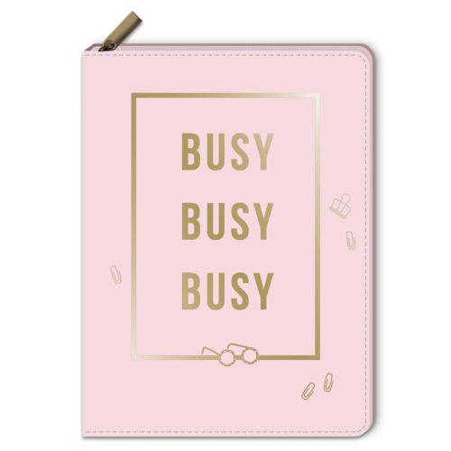 Notizbuch mit Reißverschluss - Busy