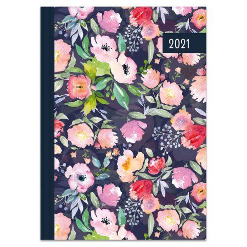 Buchkalender 2021 – Blumen Aquarell