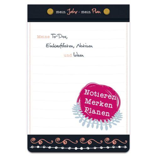Notizblock – Mein Jahr Mein Plan